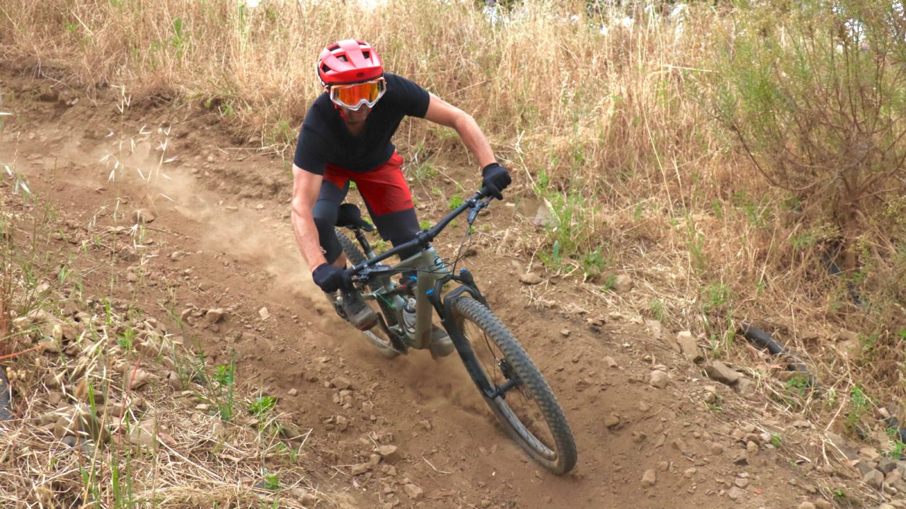 Bell Spark helmet review for Bike Network with Myles Kelsey on a Cannondale Habit.