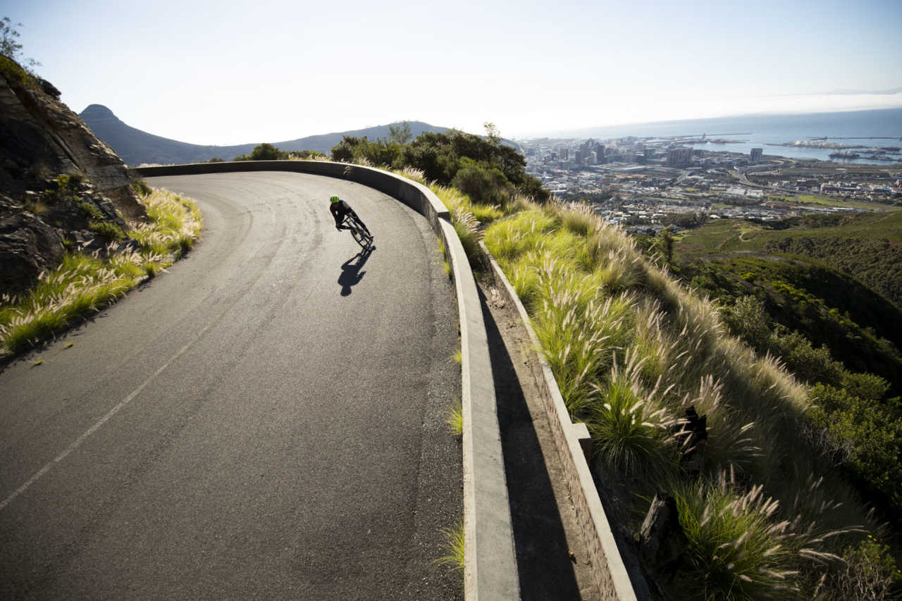 Curve Cycling The Kevin, a steel gravel bike. Photoshoot on Table Mountain, Cape Town. May 2019