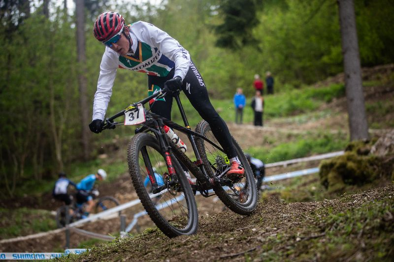 Alan Hatherly at Albstadt Germany for the first round of the 2019 XCO world Cup.