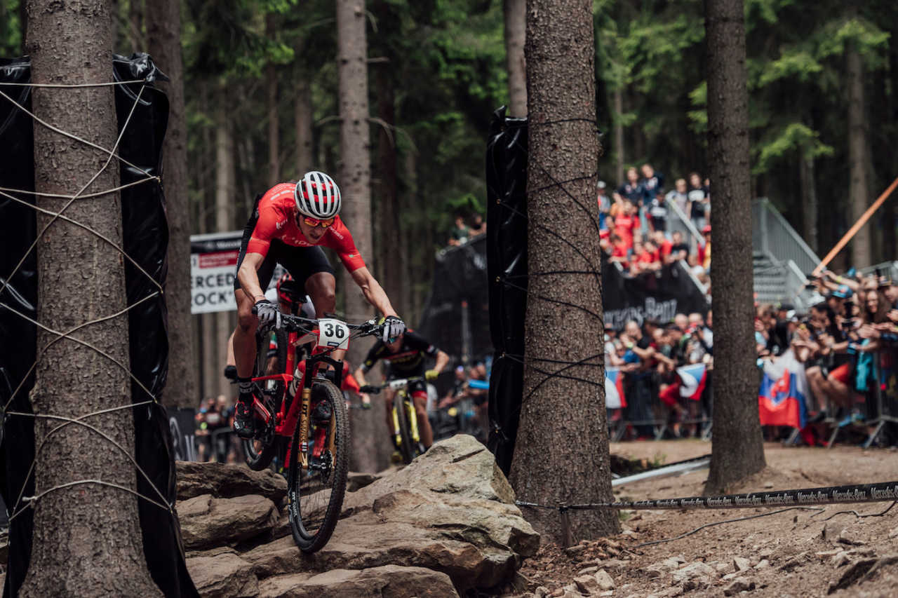 Ondrej Cink performs at UCI XCO World Cup in Nove Mesto na Morave, Czech Republic on May 26th, 2019