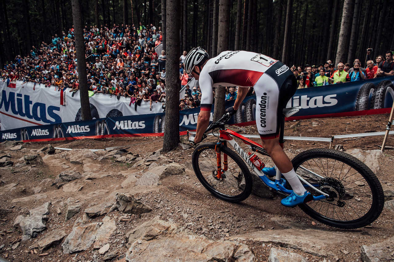Henrique Avancini performs at UCI XCO World Cup in Nove Mesto na Morave, Czech Republic on May 26th, 2019