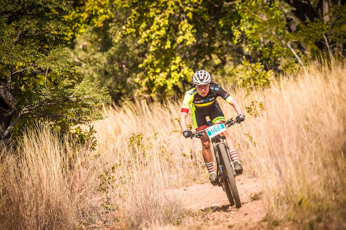 Riding off the front Danielle Strydom soloed to victory in the womens race of the FNB Magalies Monster, 2019.