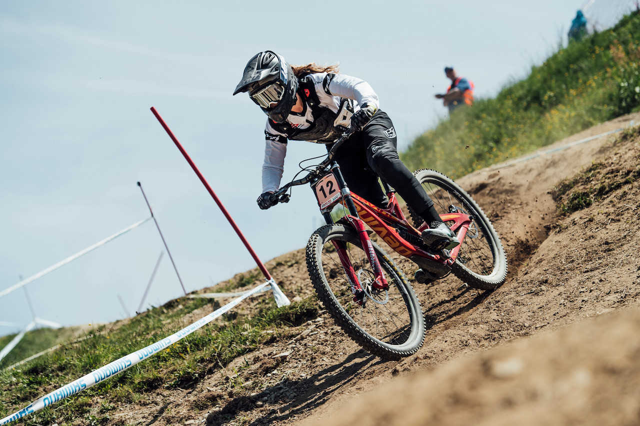 Kate Weatherly performs at UCI DH World Cup in Leogang, Austria on June 10th, 2018 //