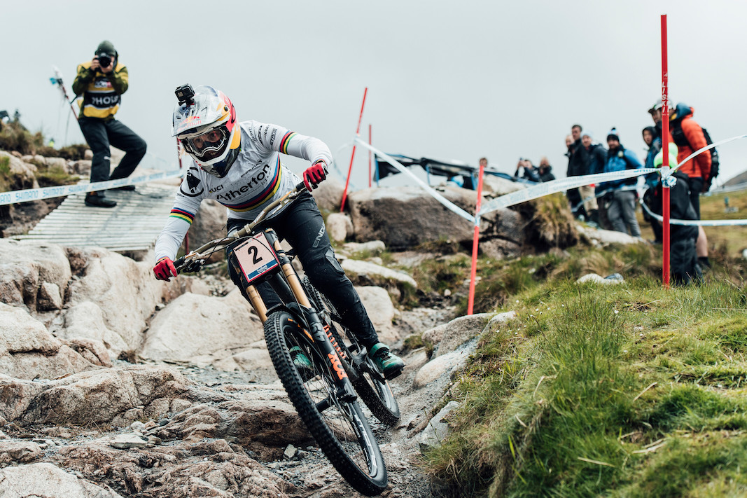 Rachel Atherton performs at UCI DH World Cup in Fort William, Great Britain on June 2nd, 2019