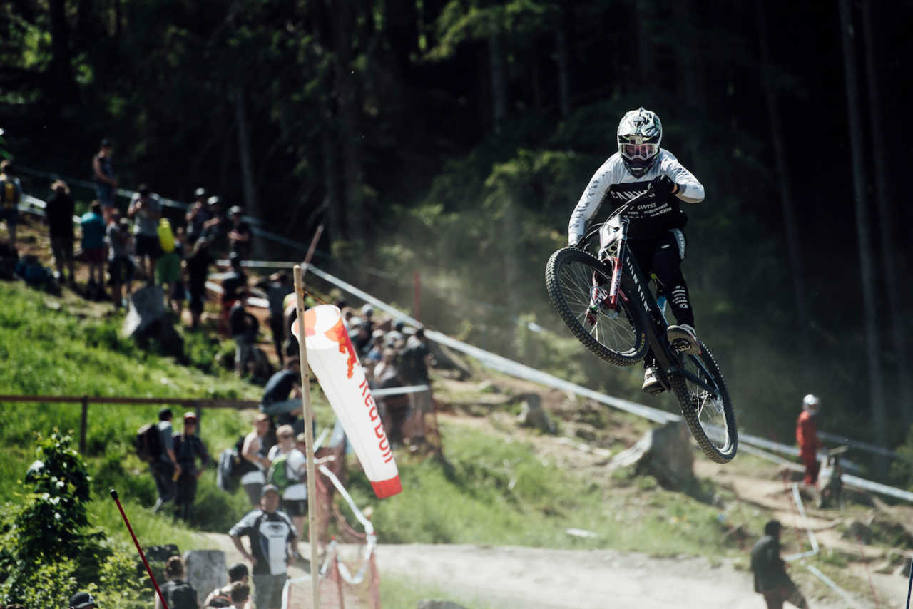 Troy Brosnan performs at UCI DH World Cup in Leogang, Austria on June 9th, 2019 // Bartek Wolinski/Red Bull Content Pool // AP-1ZKJB3XG12111 // Usage for editorial use only // Please go to www.redbullcontentpool.com for further information. //