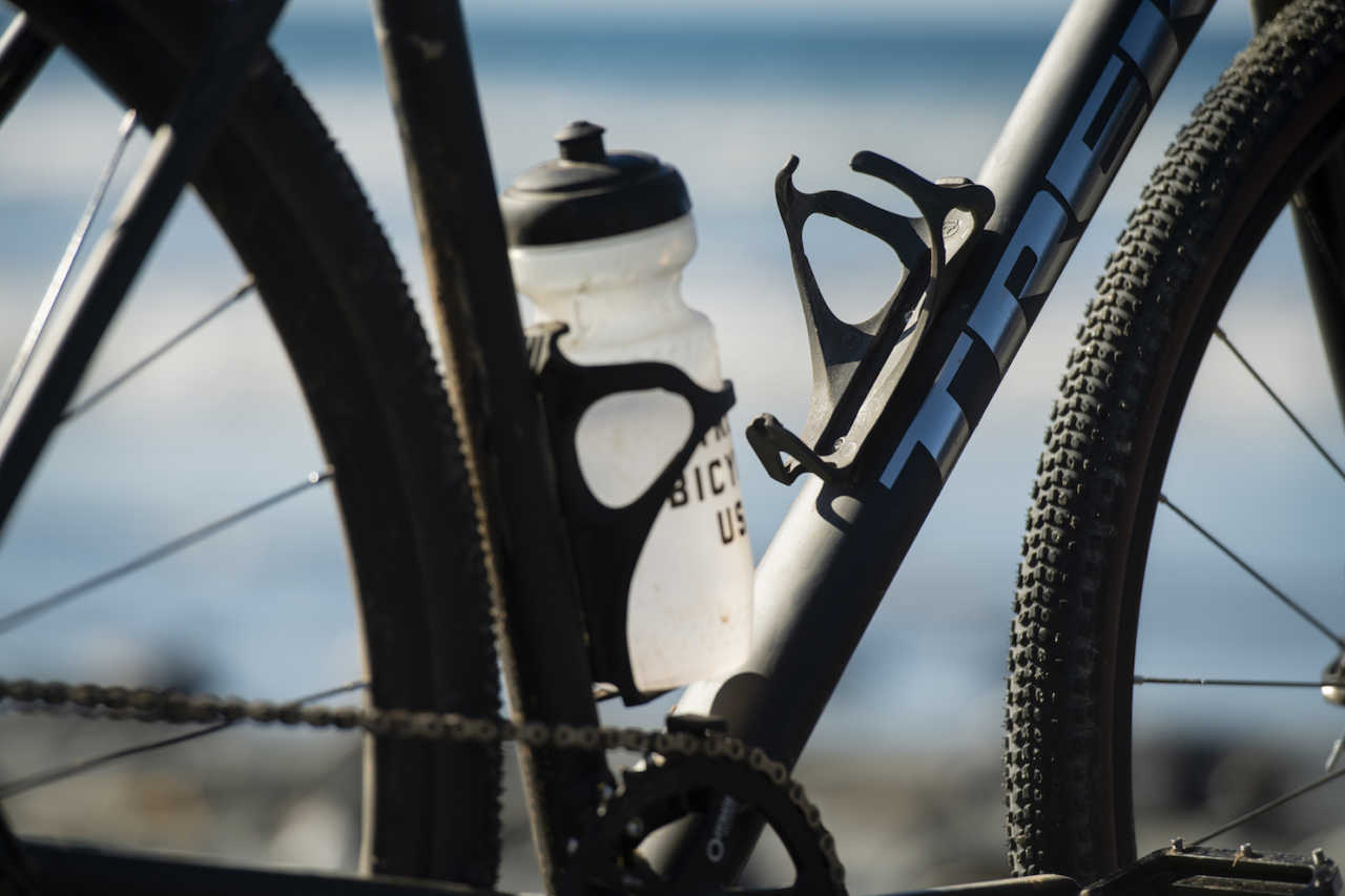 Bontrager and Trek recycle end-of-life fishing nets into a water bottle cage called the Bat Cage.