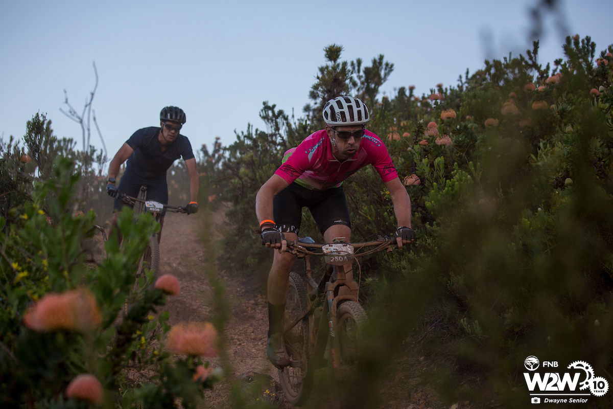 FNB Wines2whales mountain bike race.