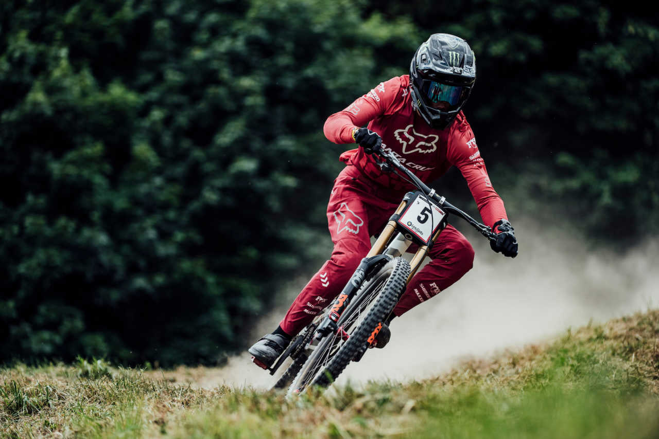 UCI Mountain Bike World Cup in Les Gets France on 13 July 2019.