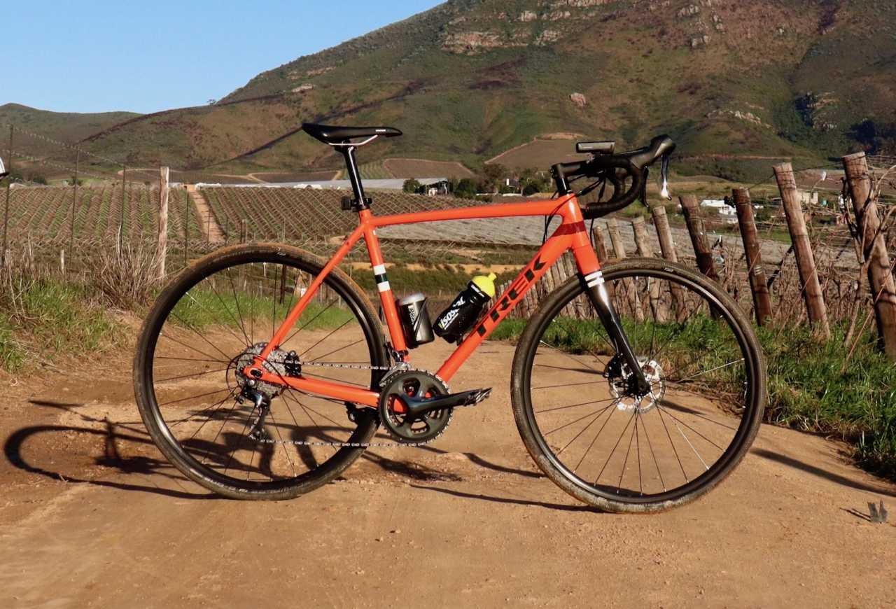 Trek Checkpoint ALR4 gravel bike in Riebeek Kasteel, Western Cape, South Africa on 18 August 2019.