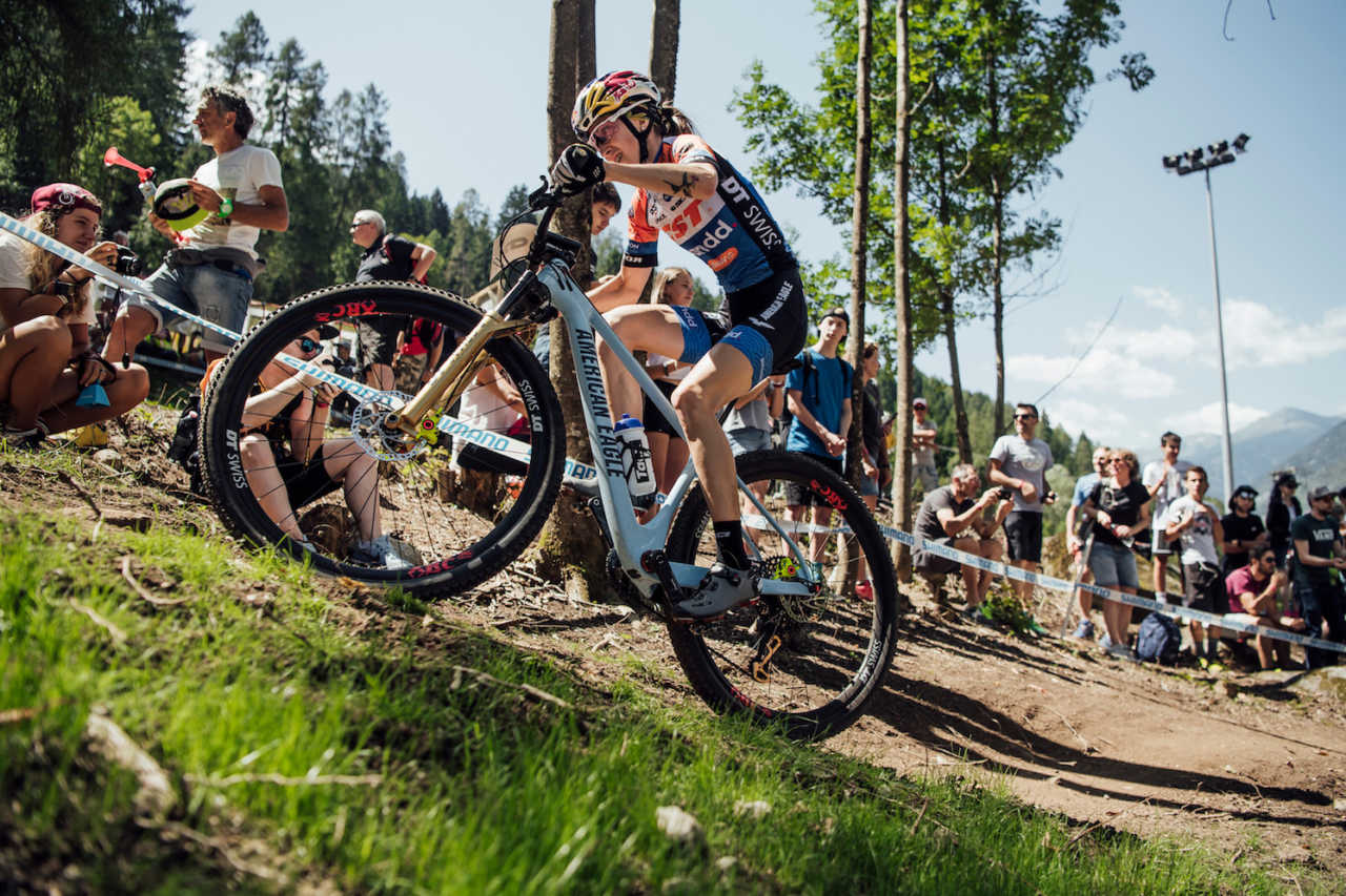 yana Belomoina performs at UCI XCO World Cup in Val di Sole, Italy on August 4th, 2019