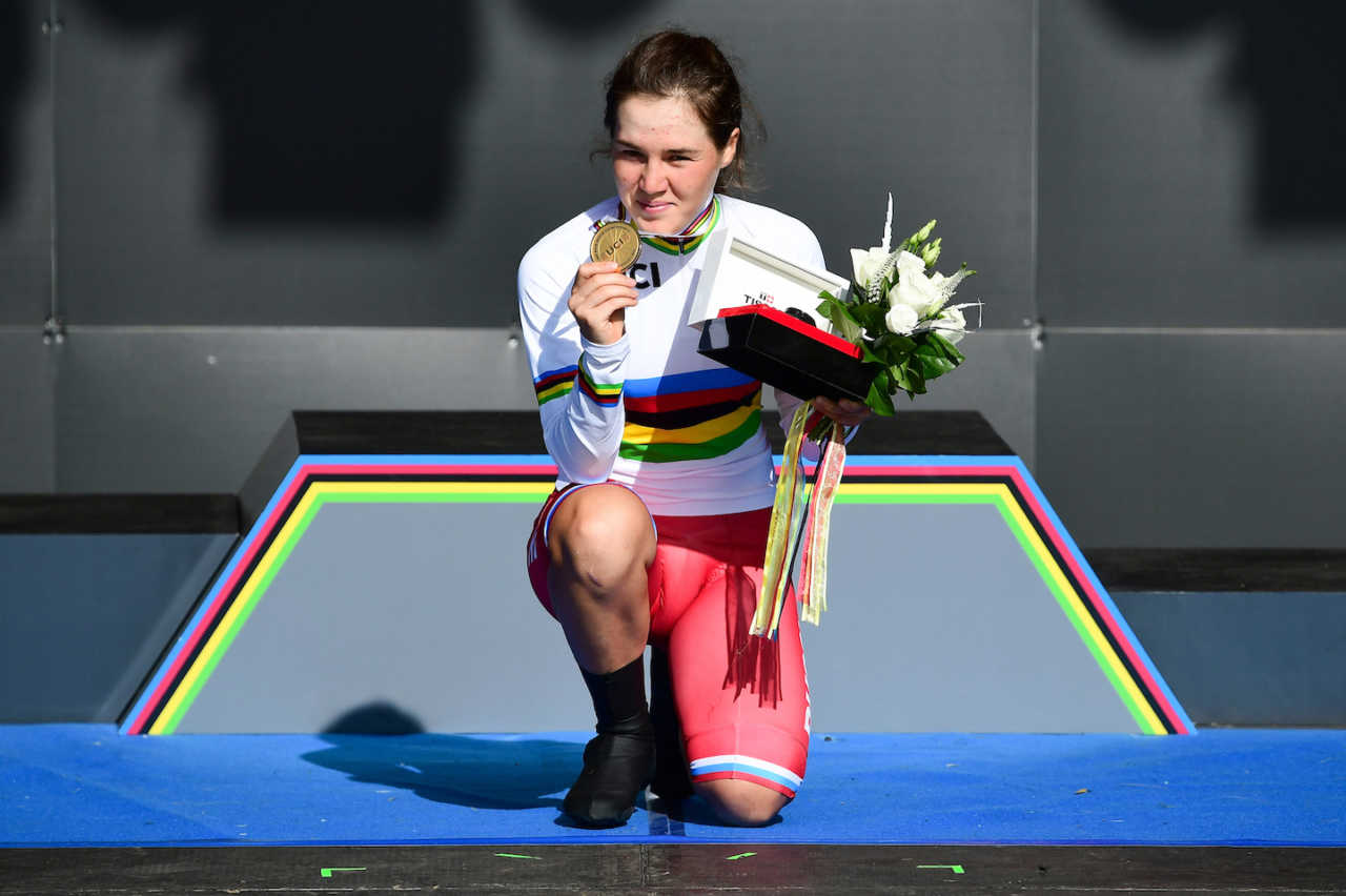 Aigul Gareeva and Antonio Tiberi both bounced back from dramatic setbacks to claim sensational victories in the Women's and Men's Junior Individual Time Trial events at the 2019 UCI Road World Championships.