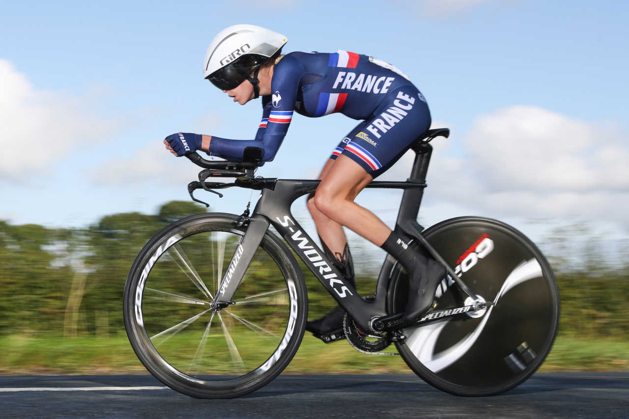 Riders participate at the 2019 road cycling world championship individual time trial events in Yorkshire, Great Britain on the 23rd September 2019.