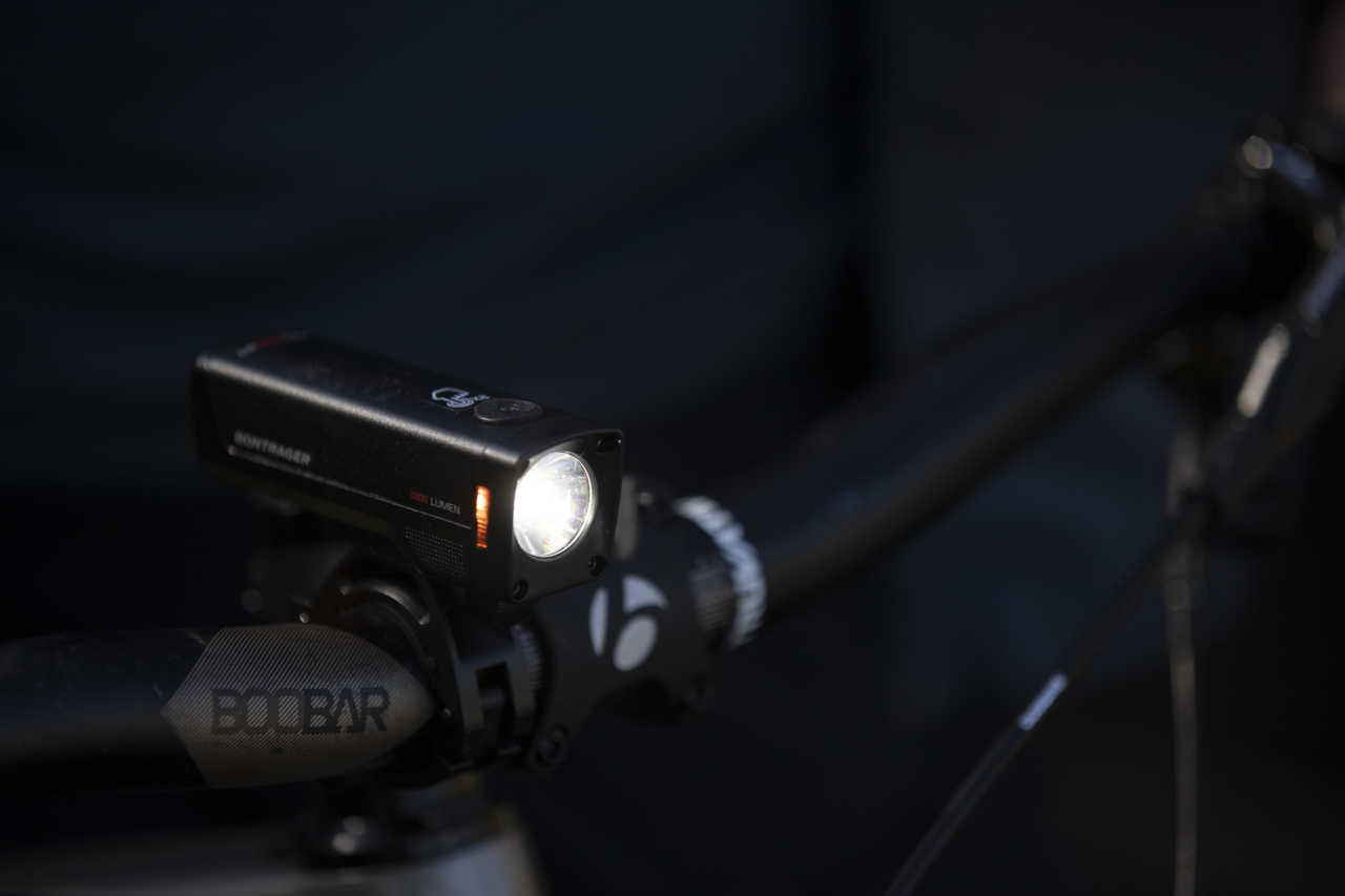 Bontrager ION Pro RT front light on test for Bike Network in Cape Town shot by Gary Perkin.