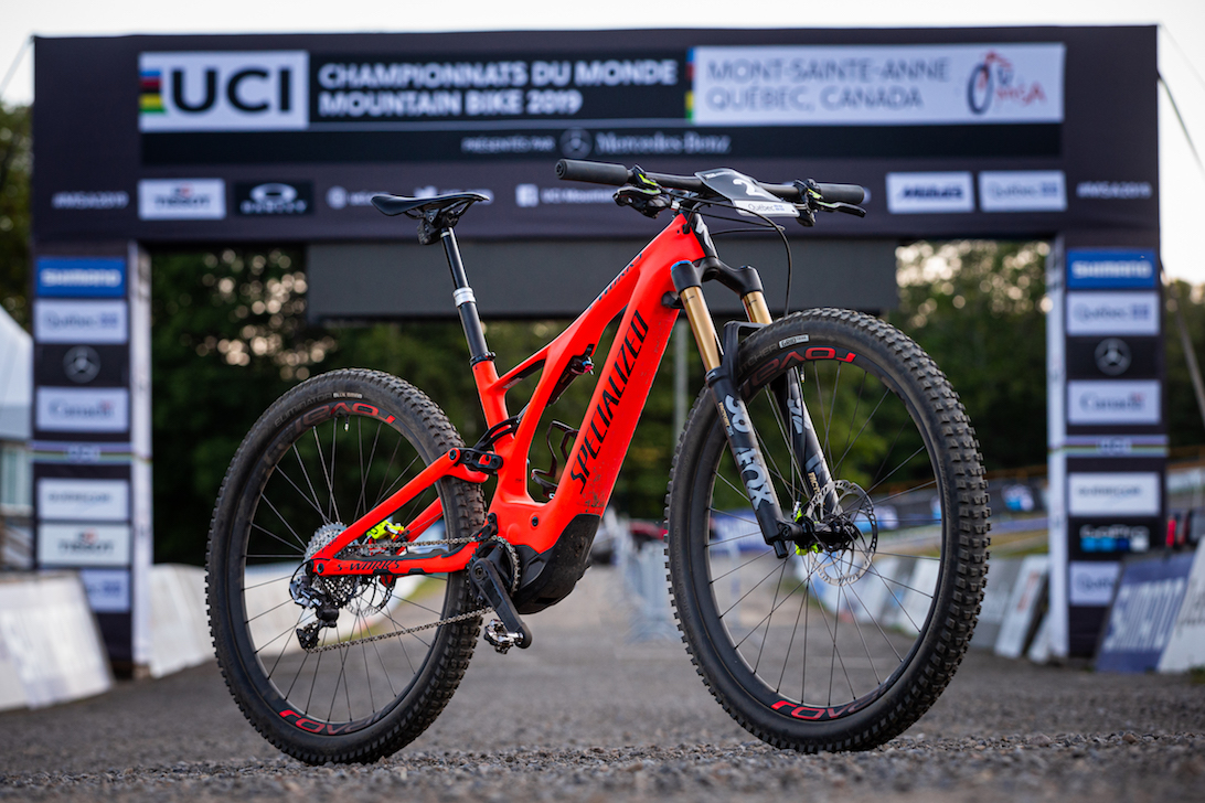 Specialized Levo ebike used by Alan Hatherly at the first ever e-bike mountain bike world championships in canada in august 2019.