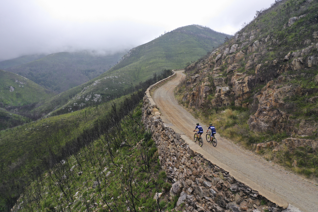 Riders participate in the 2019 Cape Pioneer Trek 7-day stage race in Western Cape, South africa.