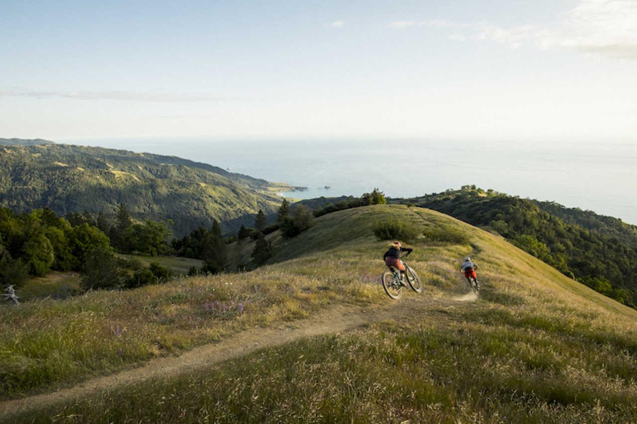 Test riders on the TRek Fuel EX mountain bike.