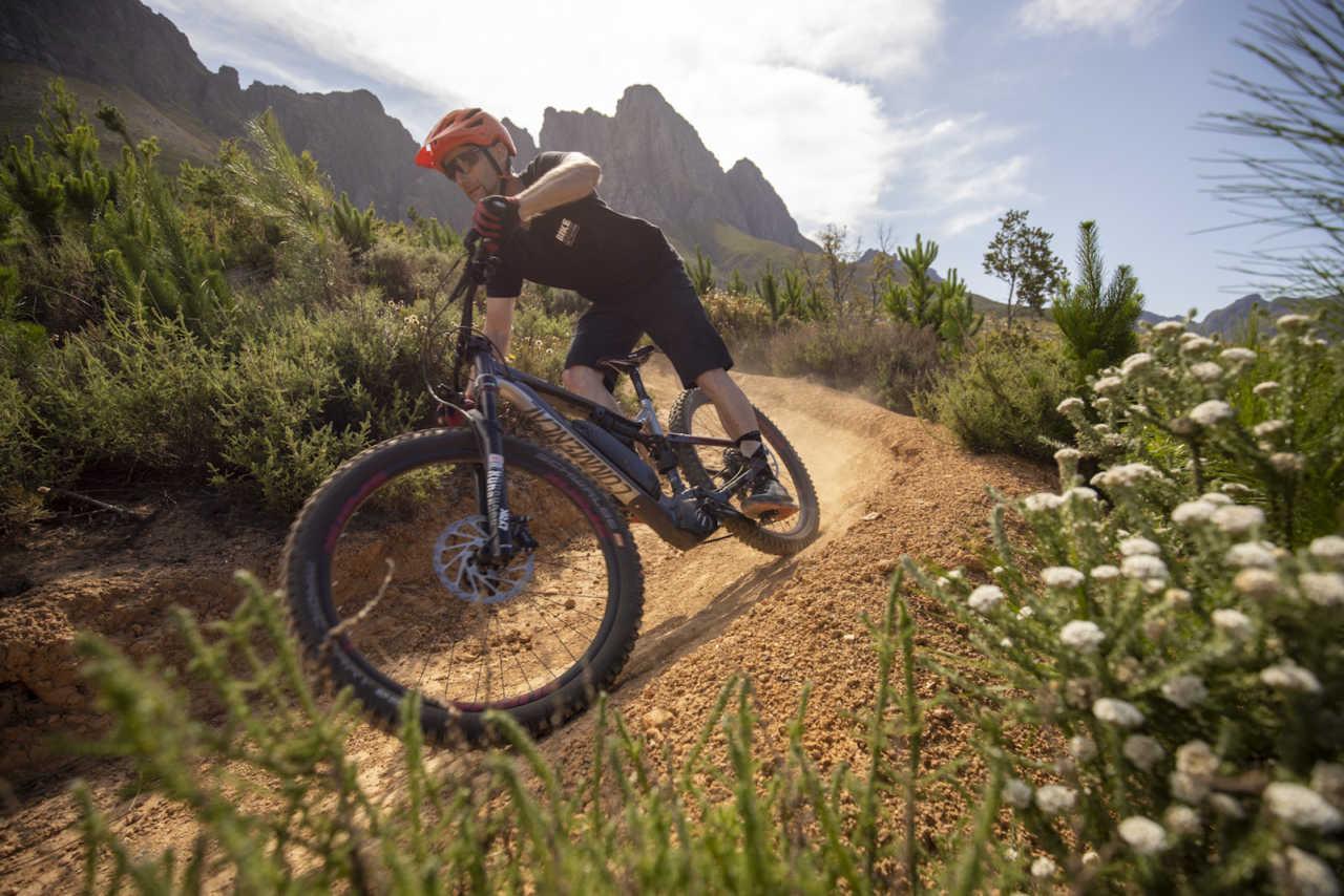 Jonkershoek, Stellenbosch - 20 November - Commencal MetaPower 27.5 during a Bike Network photoshoot with Myles Kelsey. Photo by Gary Perkin
