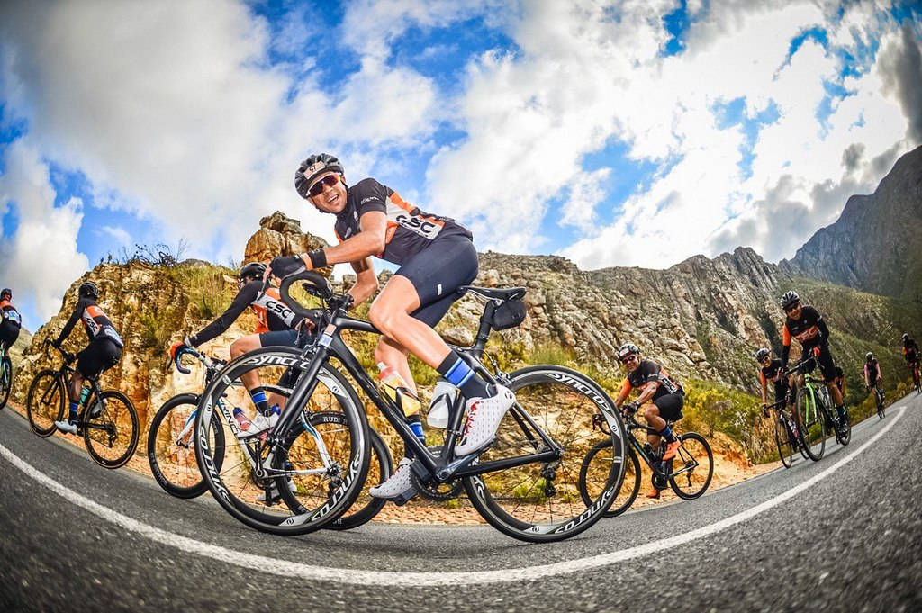 Riders participating at the 2019 coronation double century cycling race in swellendam in the overberg on the 23rd of november 2019.