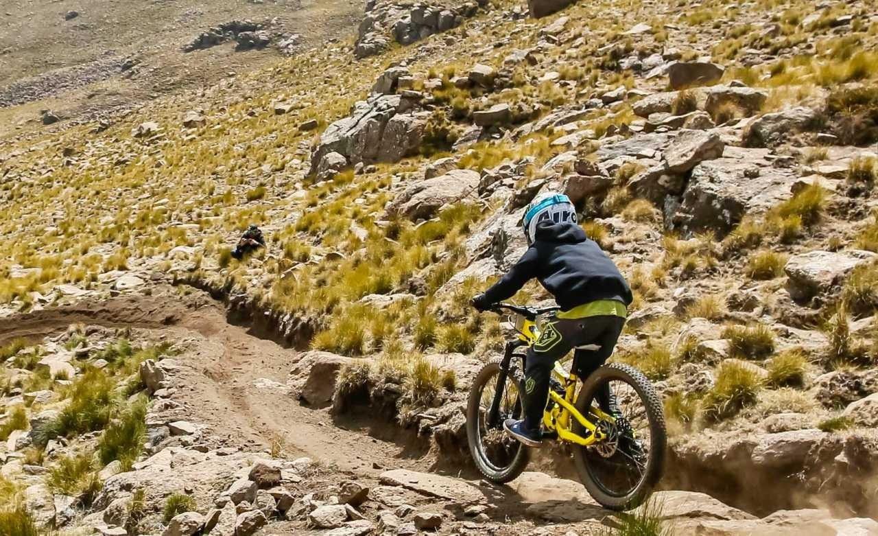 Riders in action at the 2019 fox enduro at the Crankchaos maluti mountain bike festival in lesotho. Image for crankchaos by dom barnardt. Bike Network.