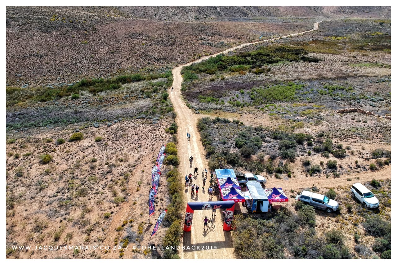Riders participating at the 25th edition of the To Hell and Back 2 day mountain bike stage race in de hel, south africa.