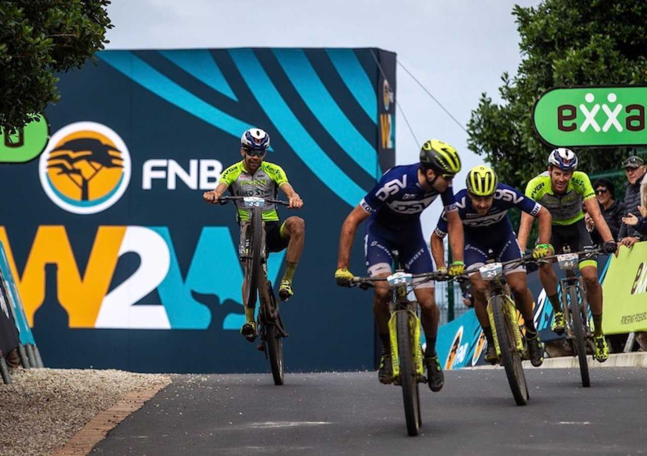 Riders during the 2019 FNB Wine2Whales Shiraz 3 day mountain bike event stage 3 from Oak Valley to Onrus. Image by Nick Muzik