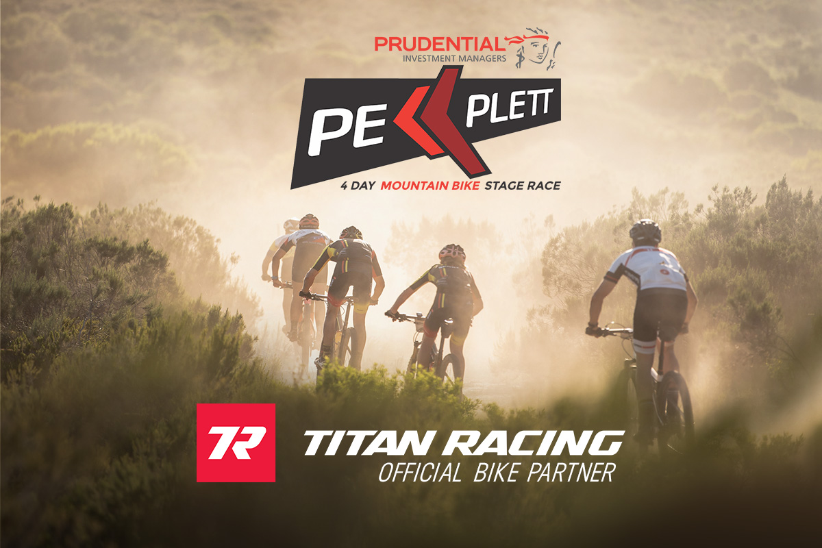 The prudential PE Plett 4 day mountain bike stage race receives support from Titan Racing Bikes.