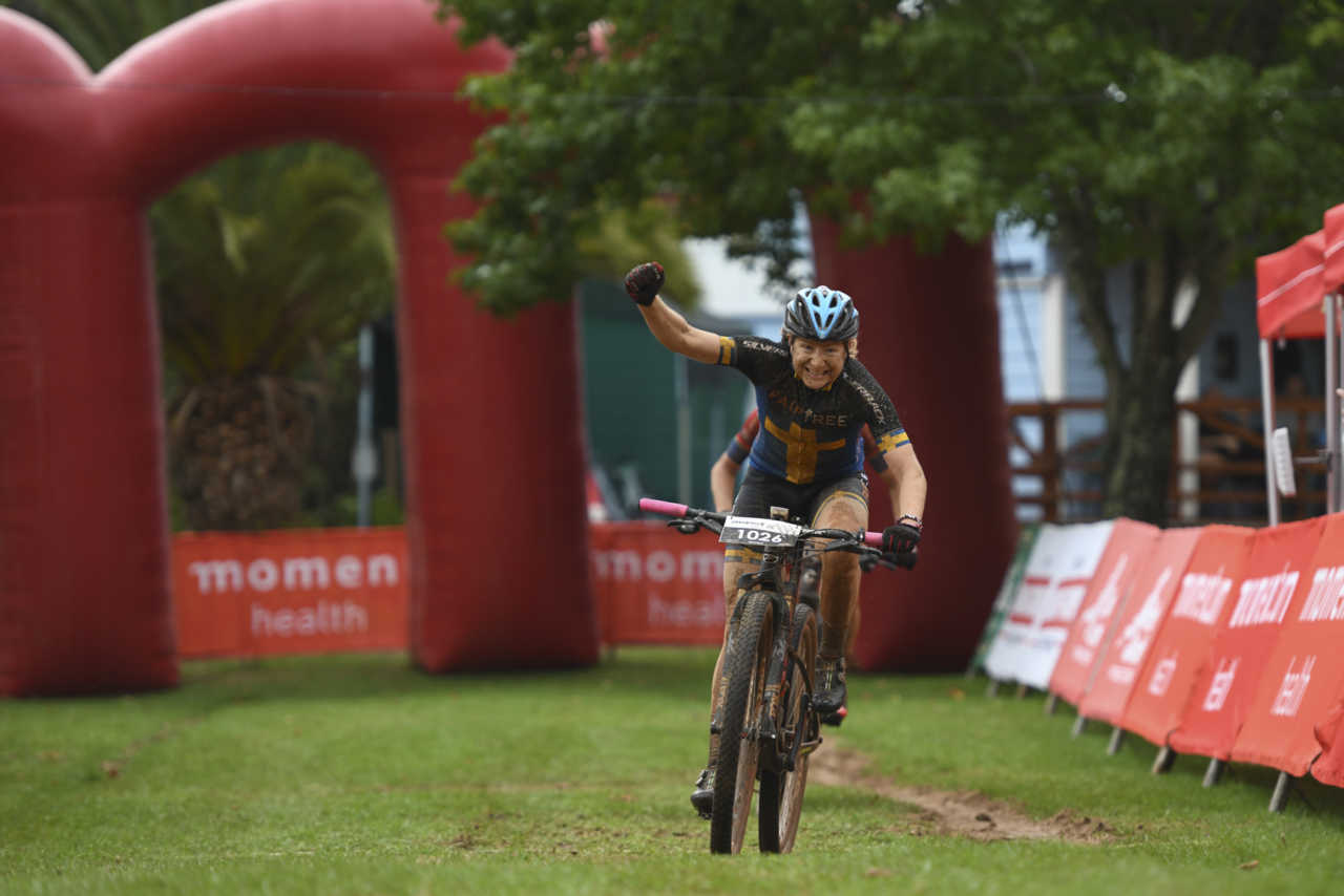 Jennie Stenerhag outsprinted Robyn de Groot to take her maiden Momentum Health Attakwas Extreme presented by Biogen win at the eighth time of asking.
