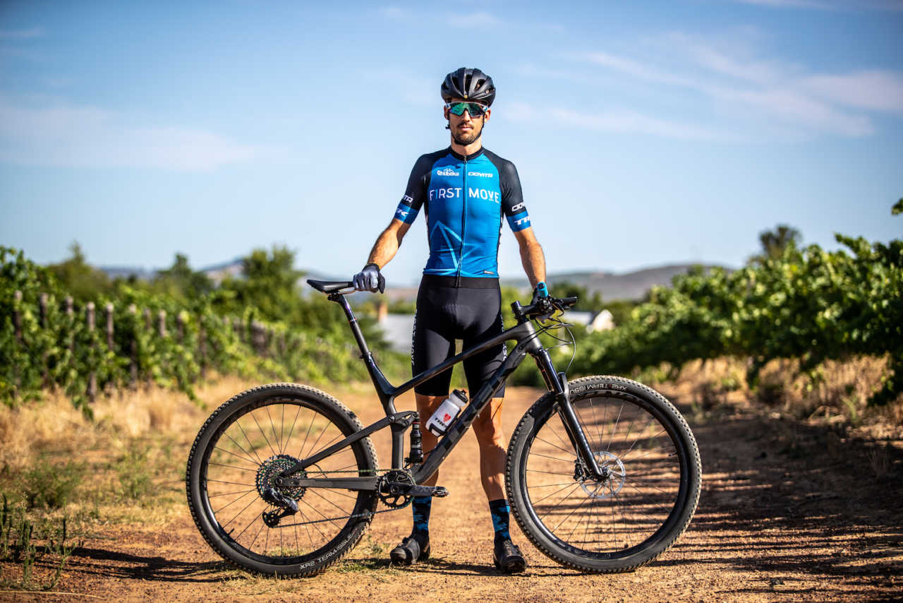 Jaco Venter of team first move with trek bikes.