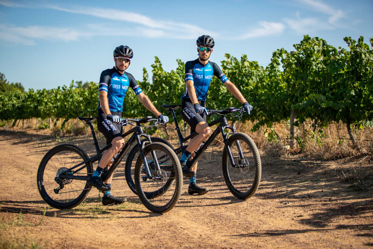 jaco venter and jacques janse van rensburg of team first move in south africa in 2020.