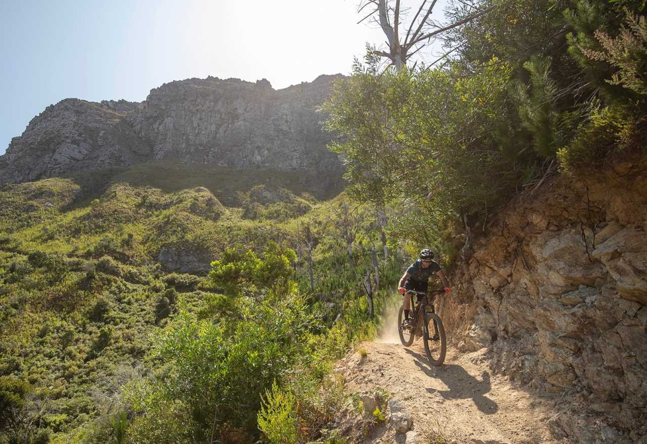 STELLENBOSCH, South Africa - 24 January 2020 - Myles Kelsey of BIKE NETWORK during the 2020 Specialized Levo SL launch. Photo by Gary Perkin