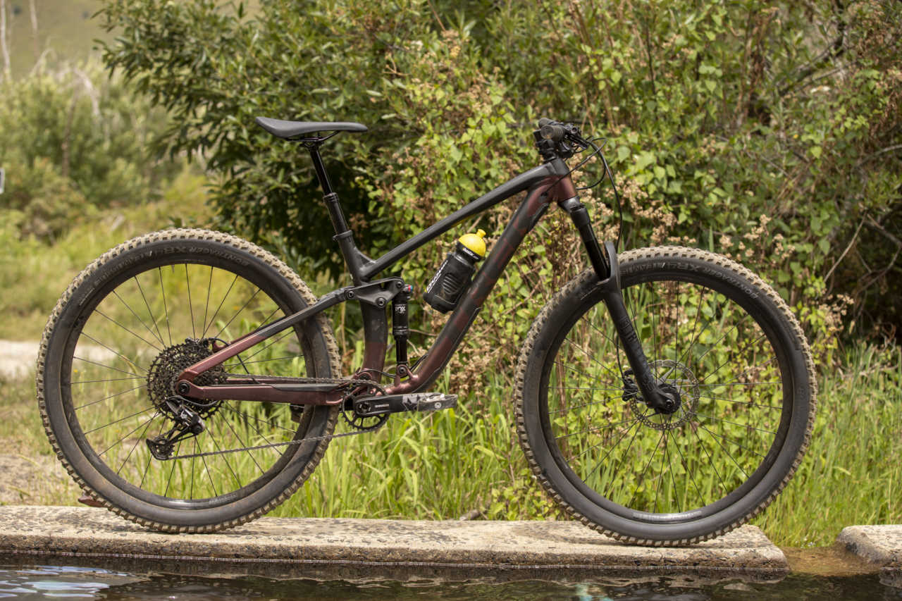 Trek Fuel EX 7 mountain bike in action with myles kelsey and bike network in jonkershoek stellenbosch south africa.