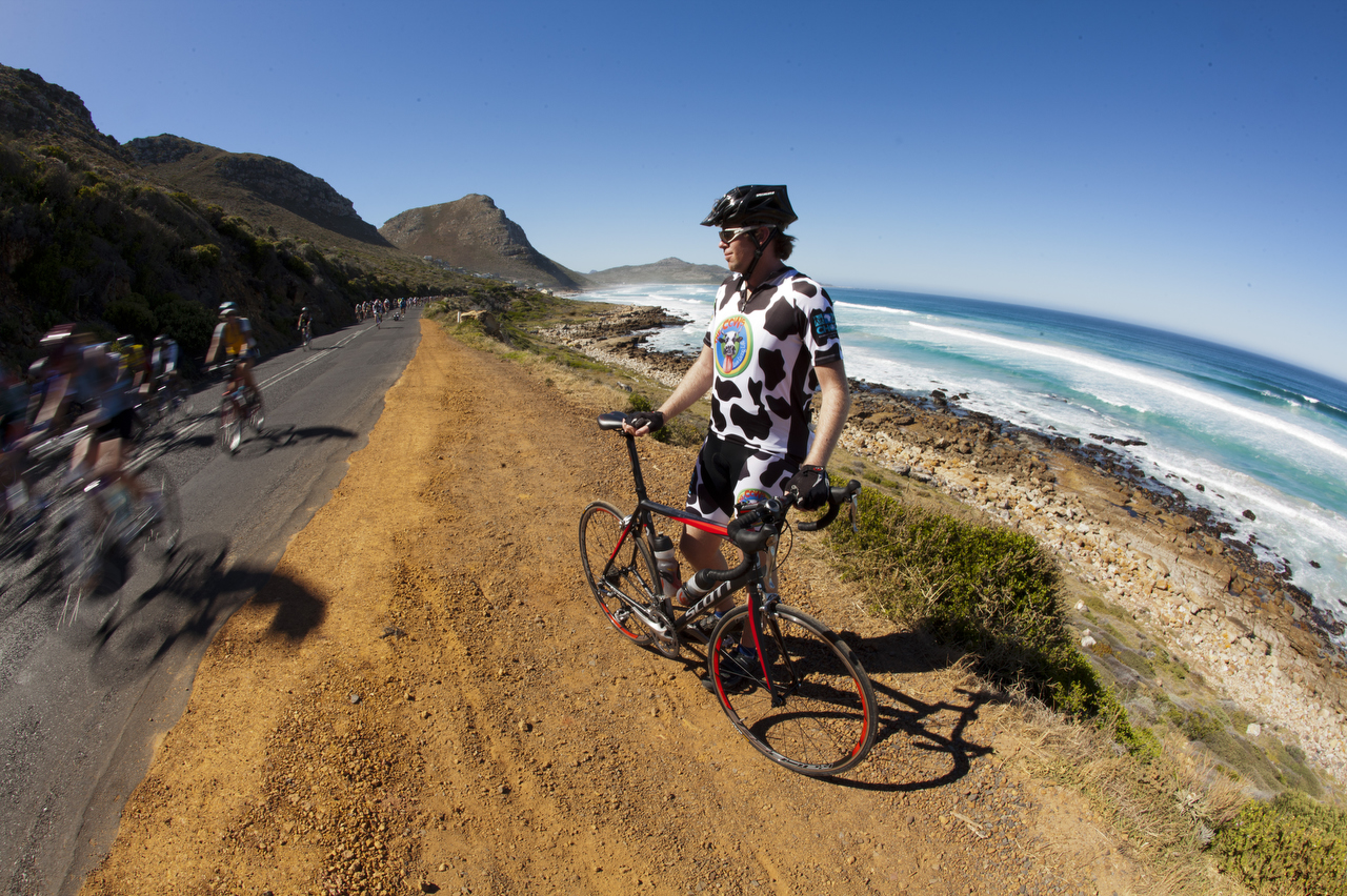 CAPE TOWN, March 11 2012 - during the Pick n Pay Argus Cycle Tour. by Gary Perkin