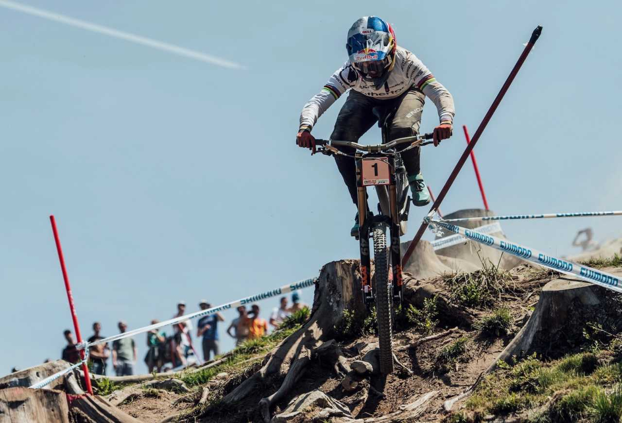 Rachel Atherton performs at UCI DH World Cup in Leogang, Austria on June 9th, 2019 // Bartek Wolinski/Red Bull Content Pool