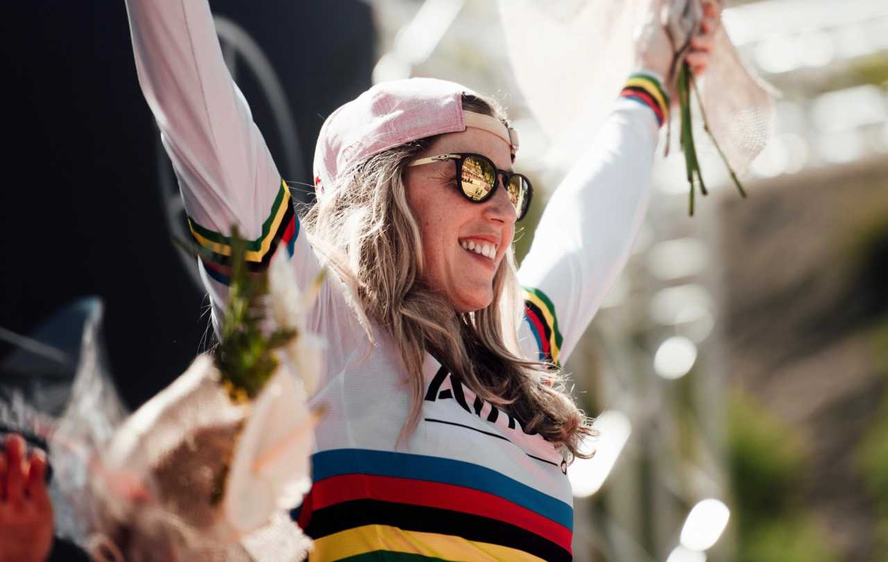 Rachel Atherton seen at UCI DH World Cup in Vallnord, Andorra on July 6th, 2019 // Bartek Wolinski/Red Bull Content Pool