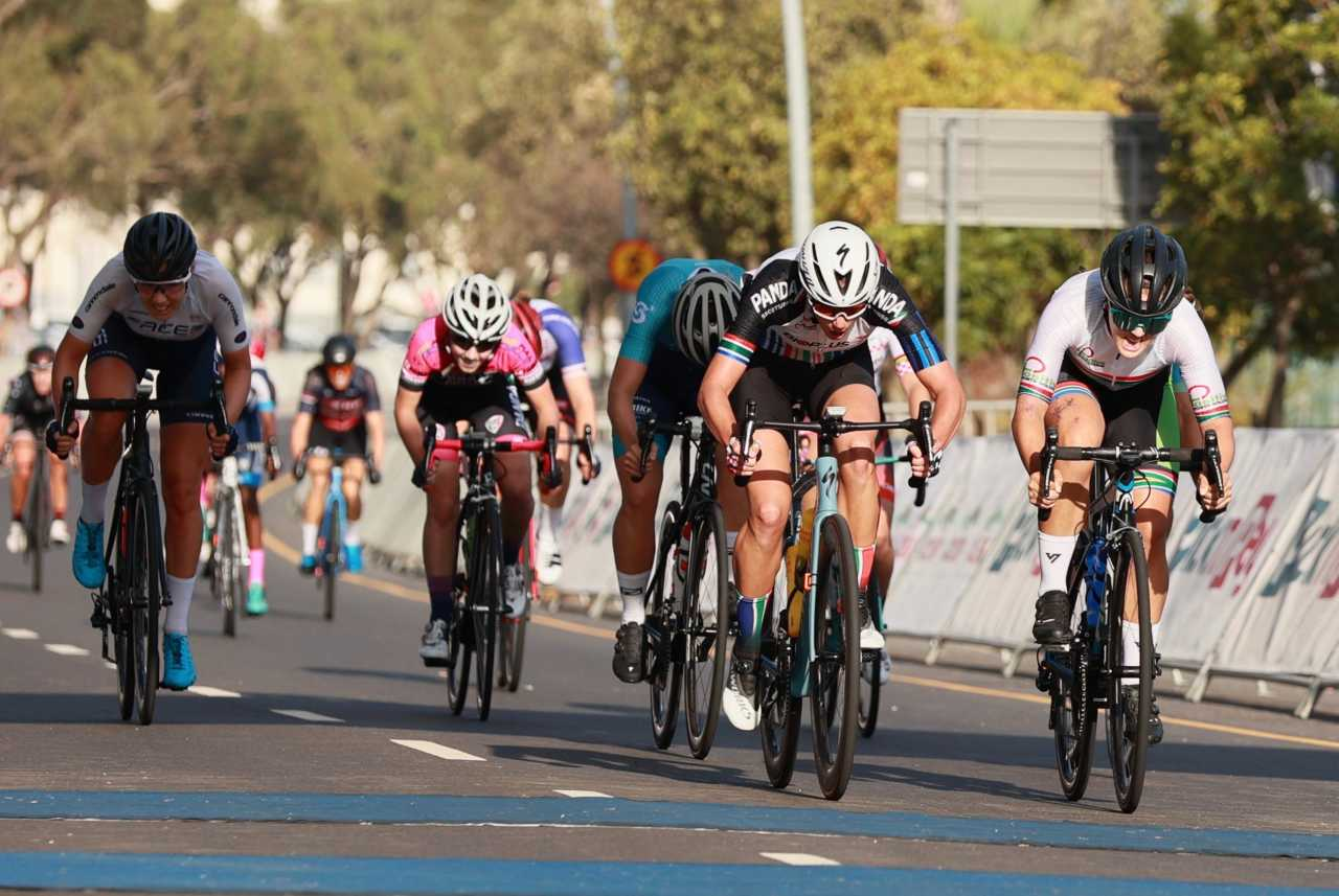 Cherise Willeit winning the 2020 Cape Town Cycle Tour in South Africa.