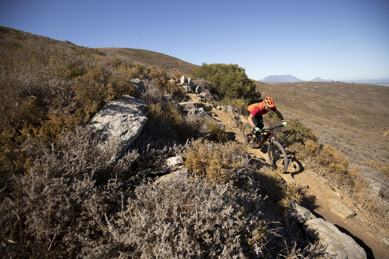 CAPE TOWN - riding the Trek Rail 7 with Myles Kelsey for Bike Network in Contermanskloof. Photo by Gary Perkin