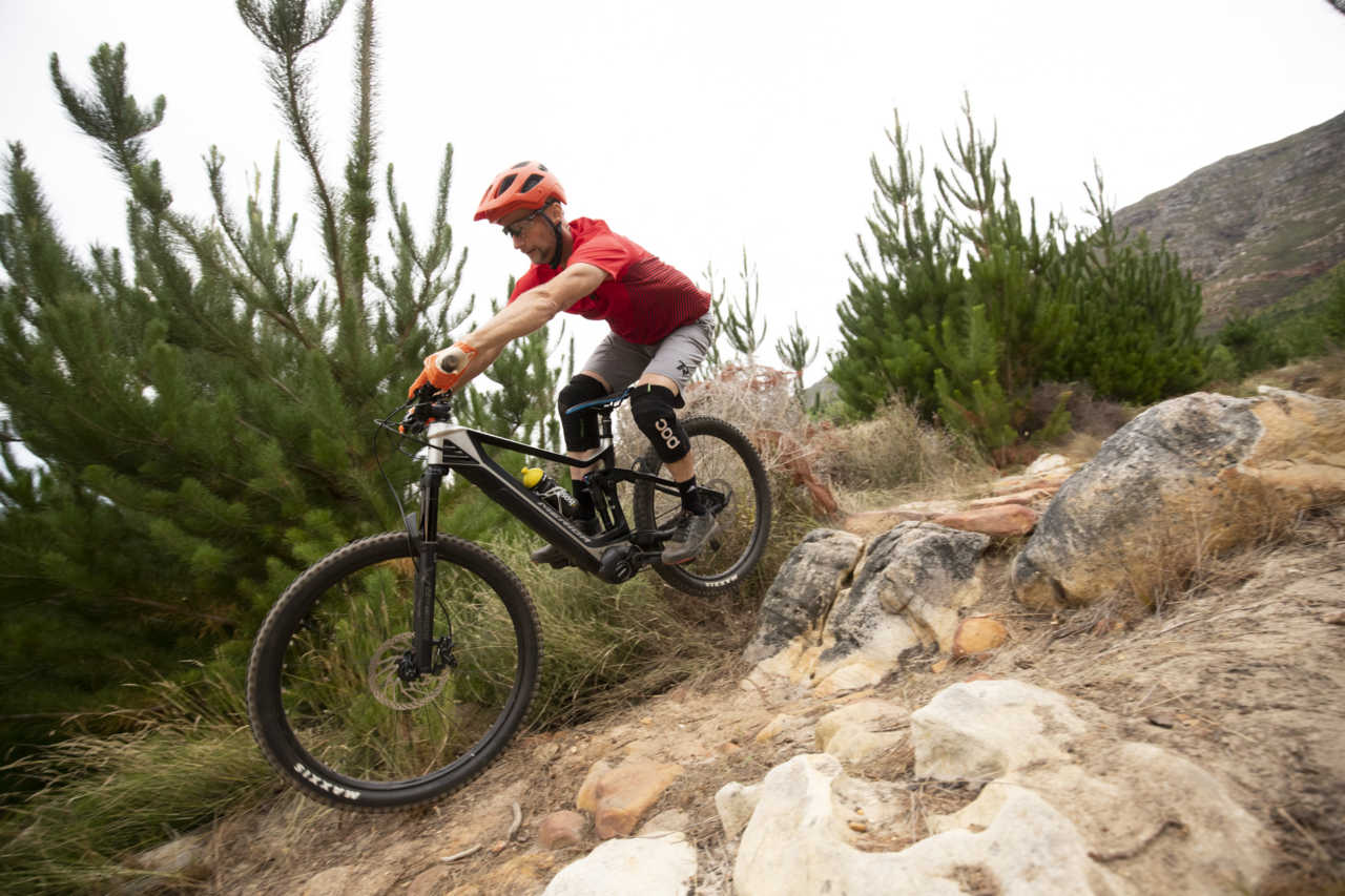 Merida ebike test in tokai, cape town for bike network by myles kelsey. photography by gary perkin