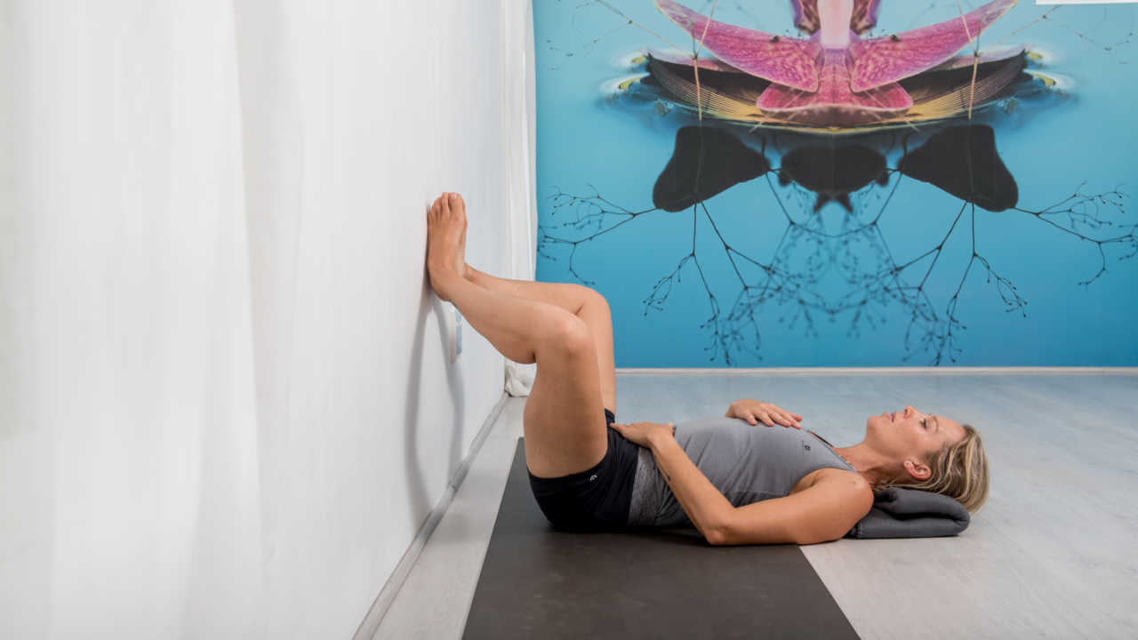 Lynette Morris as photographed for Bike Network for a yoga article on recovery for cyclists.