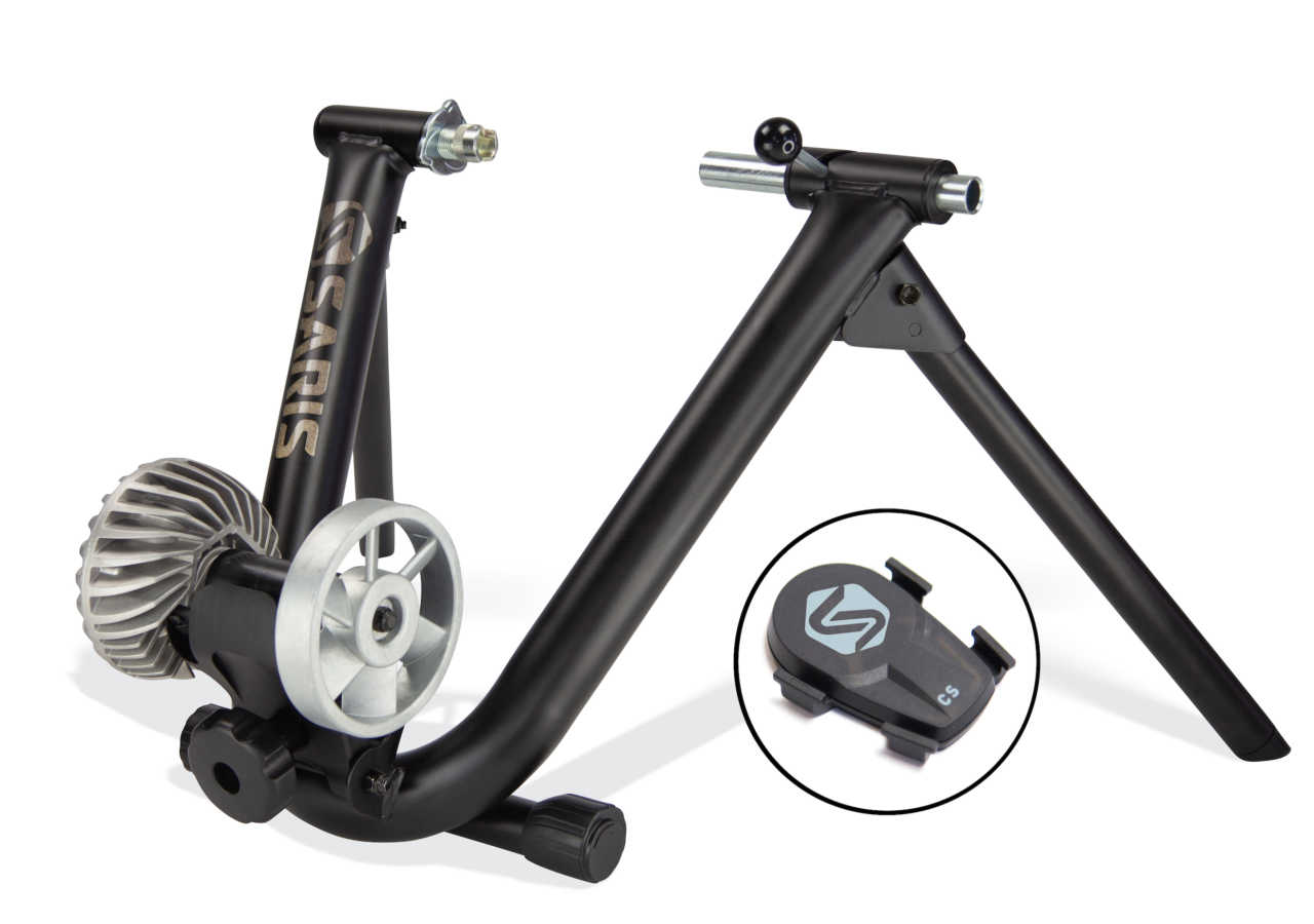 The SARIS Fluid Smart Equipped indoor trainer for virtual or non-virtual indoor cycle training from the Bicycle Power Trading company