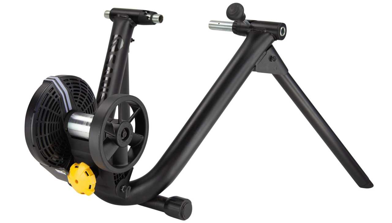 The Saris M2 smart trainer for indoor cycle training from the Bicycle Power Trading company