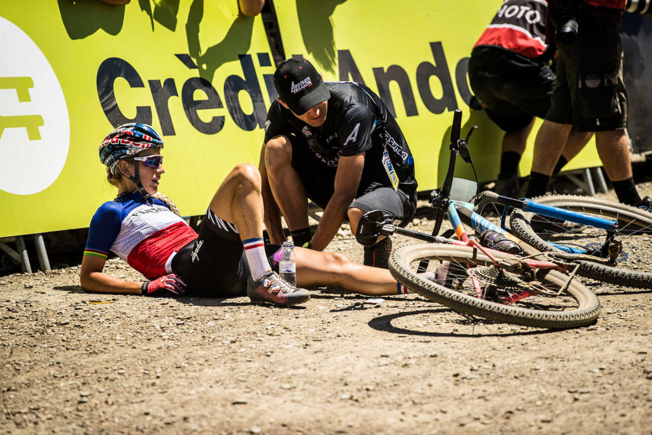 Pauline Ferrand-Prevot at the UCI Mountain bike world cup