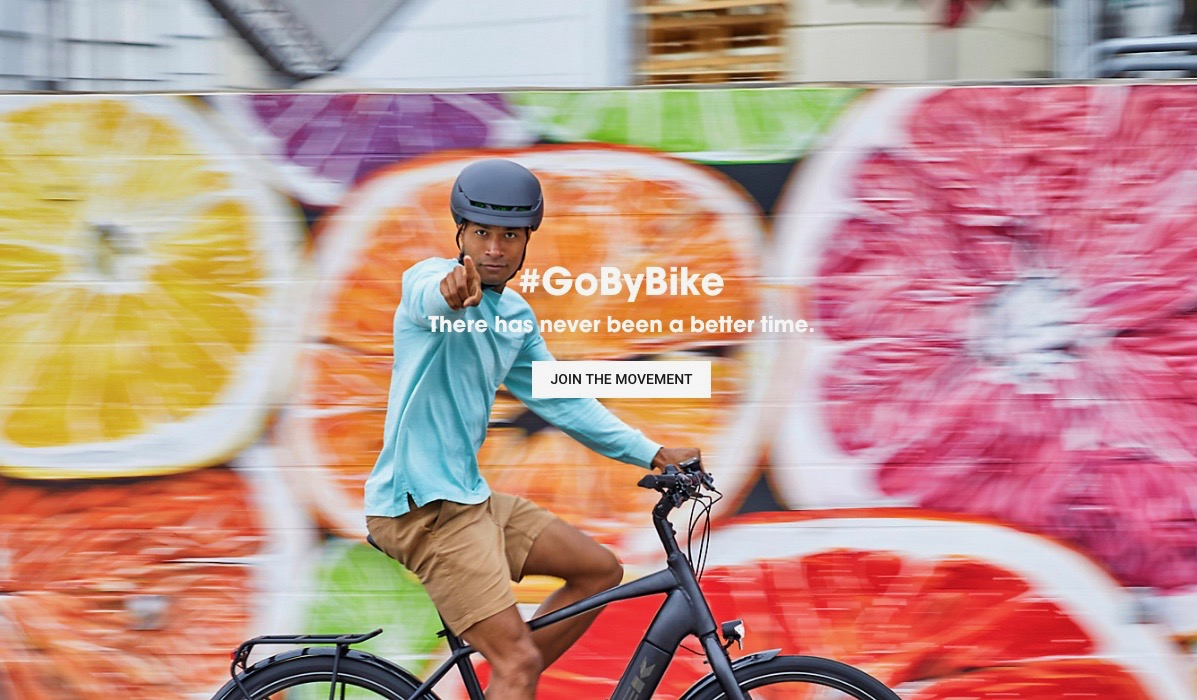 #GoByBike image as part of the TRek Bicycle global campaign
