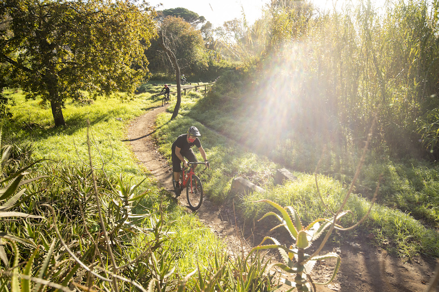 Gary Perkin riding the Titan Racing Switch Pro gravel bike in Cape Town South Africa for Bike Network during the lockdown