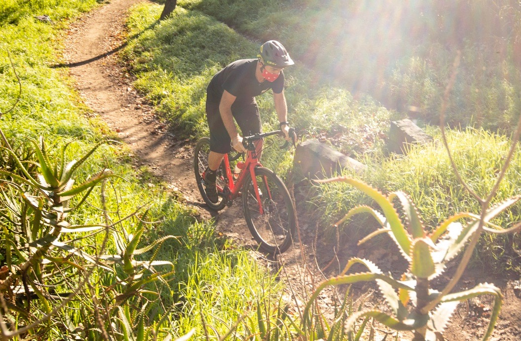 CAPE TOWN - 4 June 2020 - Gary Perkin testing the Titan Switch Pro for Bike Network on the Constantia Green Belt during Level 3 Lockdown. Photo by Myles Kelsey