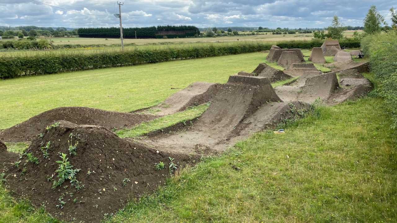 Backyard of Matt Jones seen during filming Home Workout in United Kingdom on July 10, 2020. // Red Bull Media House GmbH/ Red Bull Content Pool // AP-24M85ZCCD2111 // Usage for editorial use only //