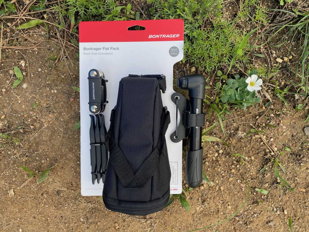 Bontrager flat repair kit for cyclists