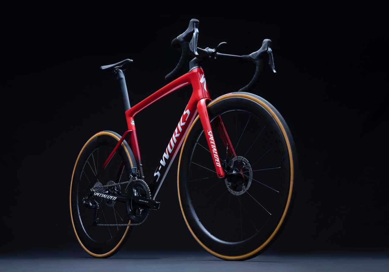 The new Specialized Tarmac SL7 road bicycle as featured on Bike Network