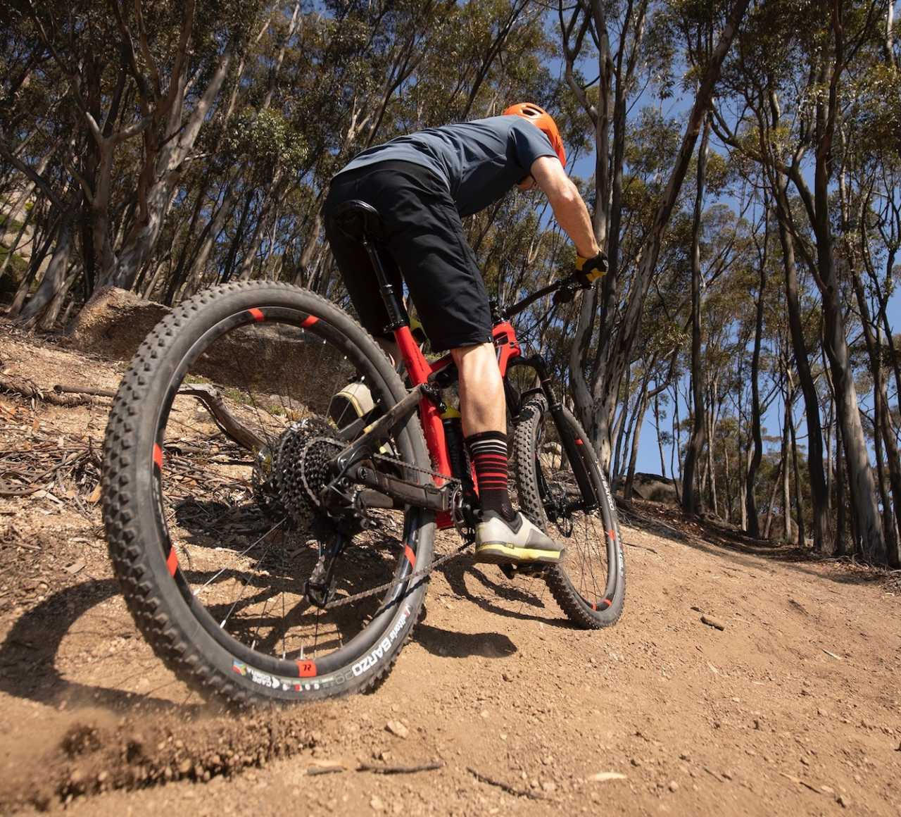 Myles Kelsey mountain biking on the Titan Cypher 120mm cross country mountain bike in Cape Town South africa.