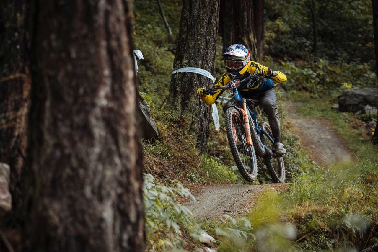 Martin Maes in action at the Specialized Enduro World Series Zermatt in Switzerland on the 30th August 2020