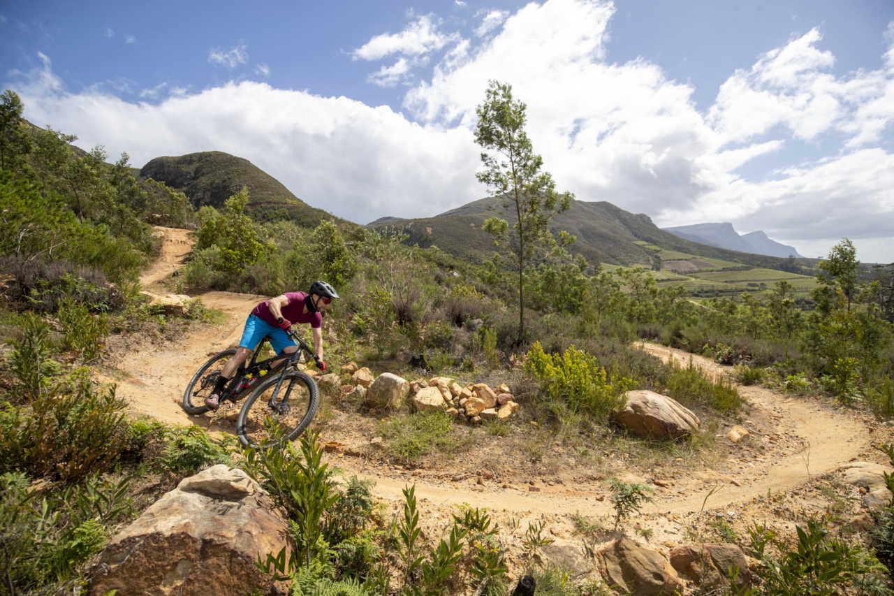 Myles Kelsey of Bike Network test rides the Titan Racing Cypher RS mountain bikes in Tokai, Cape Town, South Africa on the 30th of September 2020